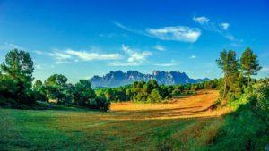 Silueta de la montaña de Montserrat