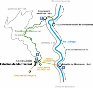 Mapa cómo llegar a Montserrat